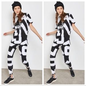 ADIDAS BOLD AGE T-SHIRT & MATCHING LEGGINGS OUTFIT